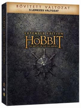 A hobbit: Az öt sereg csatája - bővített, extra változat (5 DVD) (limitált, digipackos változat) termékhez kapcsolódó kép
