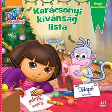 Dóra, a felfedező - Karácsonyi kívánság lista - Angol szavakkal termékhez kapcsolódó kép