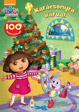 Dóra, a felfedező - Karácsonyra várva! - 100 matricával! termékhez kapcsolódó kép